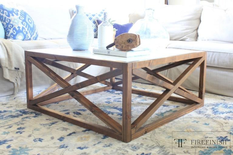 white square coffee table Ana White | Square X Coffee Table by FiReFinish   DIY Projects white square coffee table