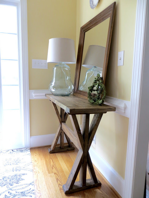 ana white x entry way table featuring the project lady. Black Bedroom Furniture Sets. Home Design Ideas