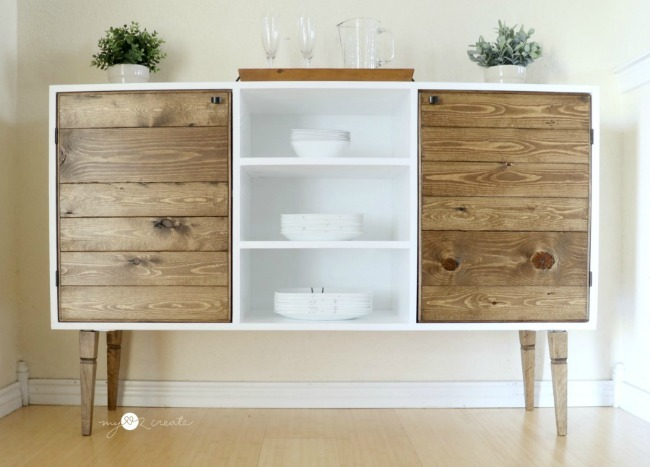 DIY Modern Rustic Buffet By My Love 2 Create