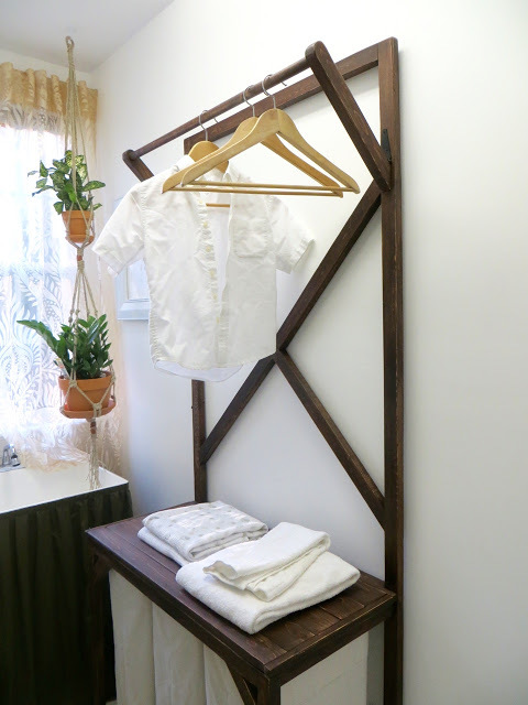 Diy Laundry Sorter With Hanging Rod