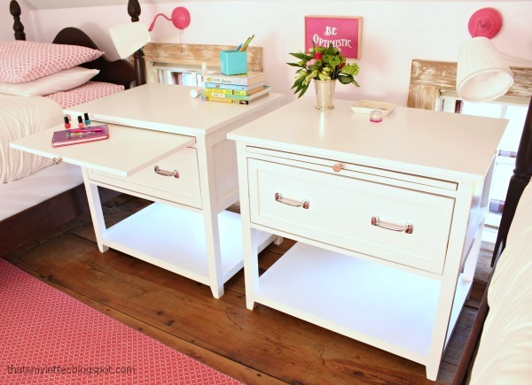 Nightstand With Pull Out Shelf
