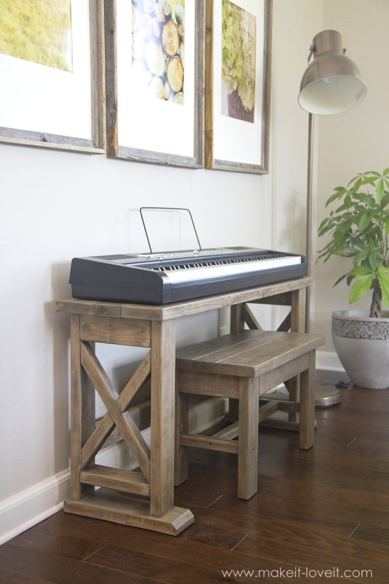 Ana White Keyboard Stand With Bench Diy Projects