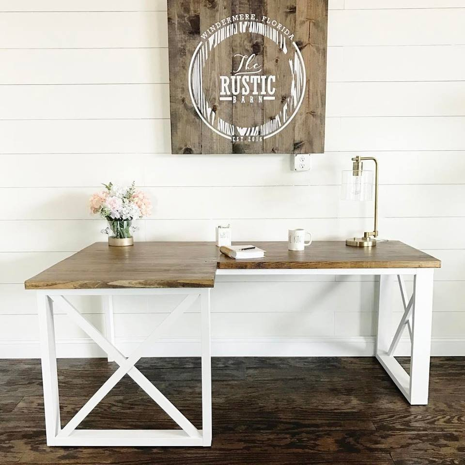 L Shaped Double X Desk Featuring Handmade Haven And The Rustic Barn Ana White
