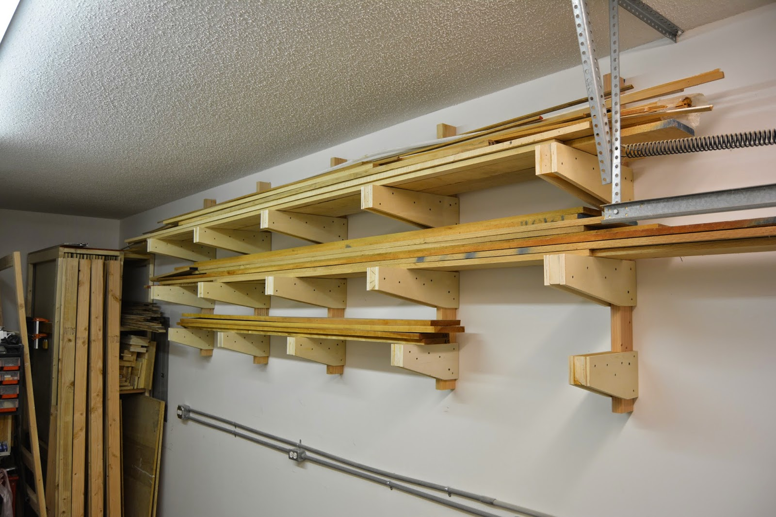 DIY Wall Mounted Lumber Rack   Featuring Lane Bros Woodshop