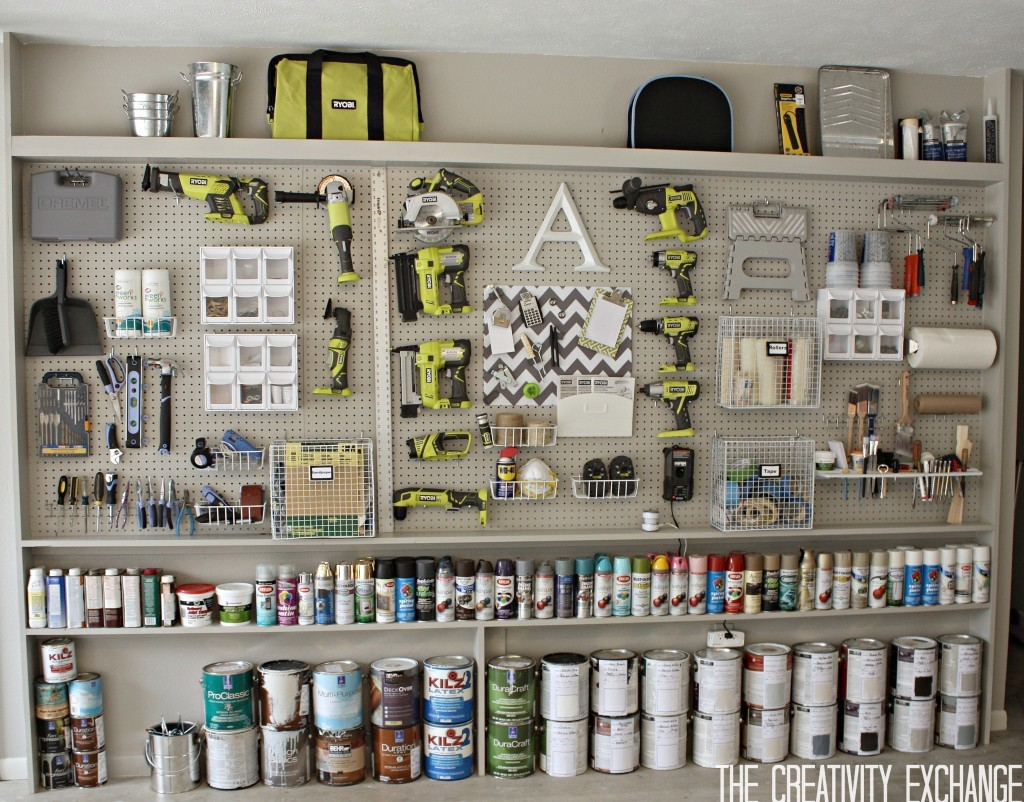 Incroyable DIY Garage Pegboard Storage   By The Creativity Exchange
