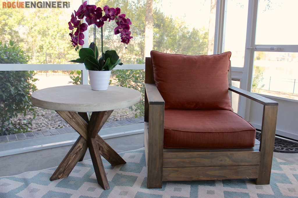 Perfect Concrete X Side Table Featuring Rogue Engineer