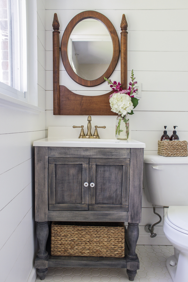 Ana White Diy Bathroom Vanity Featuring Shades Of Blue