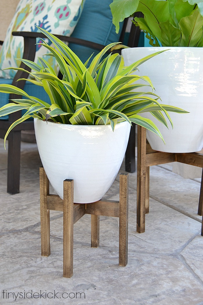 West Elm Inspired Plant Stand Featuring Tiny Sidekick