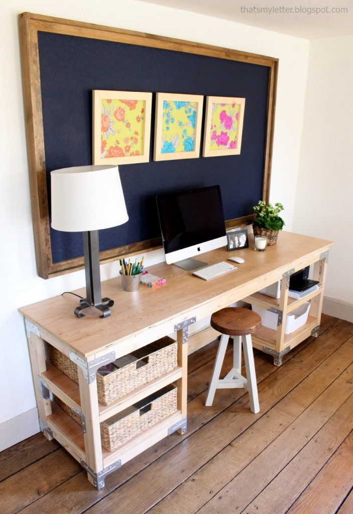 Ana white diy desk workbench diy projects Diy work desk