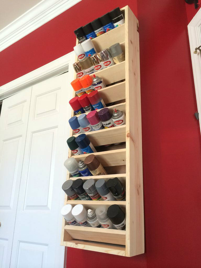 Spray Paint Storage Featuring Instructables Ana White