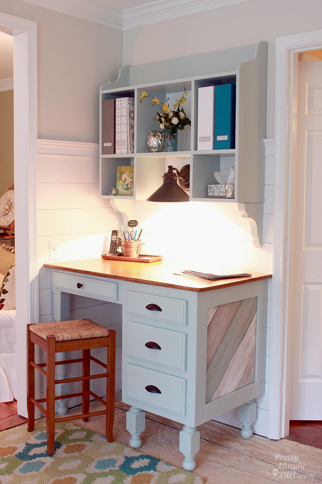 Wall Mounted Kitchen Hutch Feature By Pretty Handy