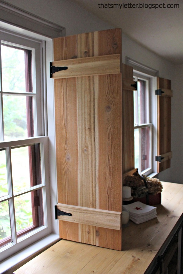 Superb Interior Cedar Shutters Feature By Pretty Handy Girl