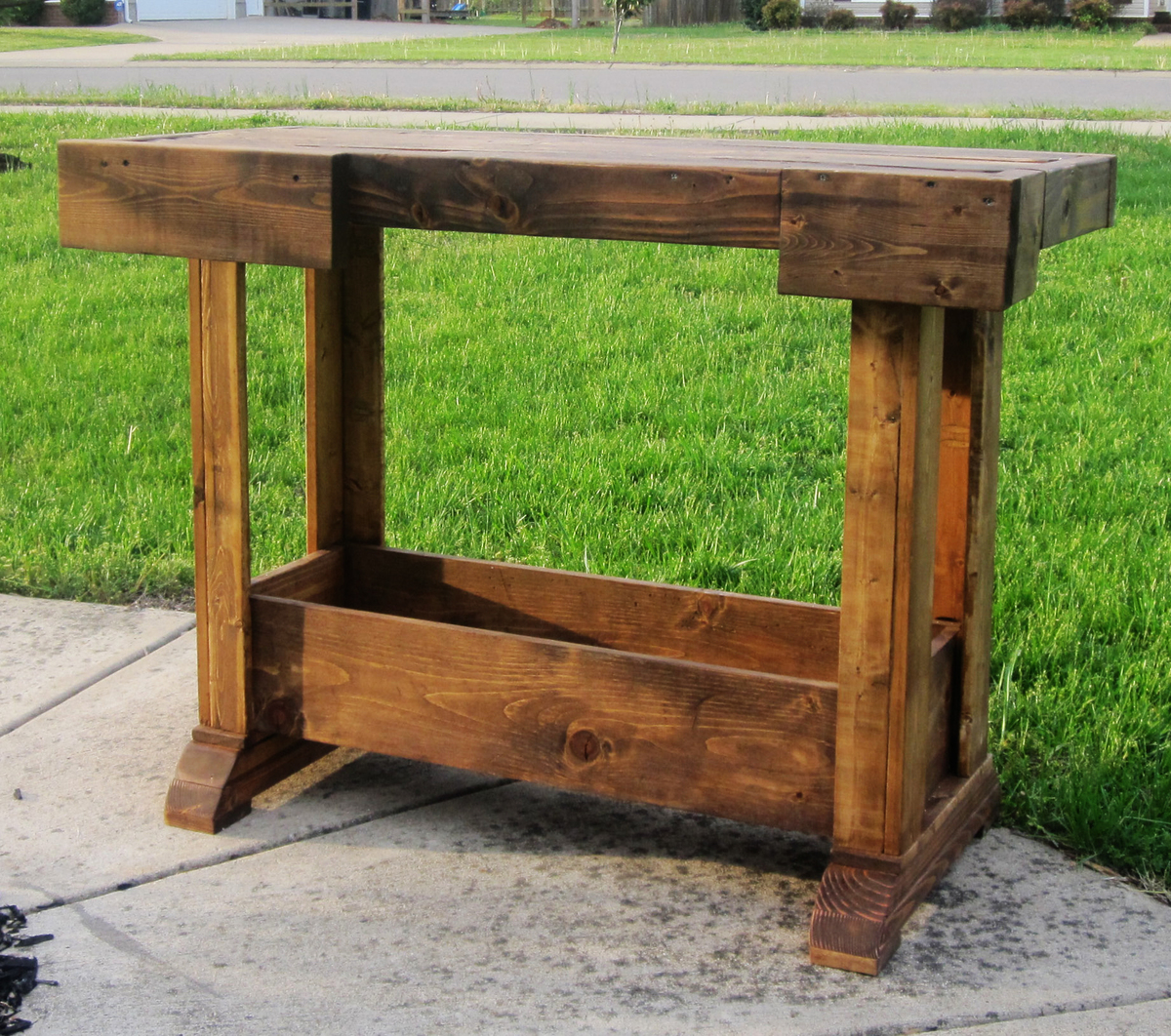 Console Table Woodworking ~ Ana white antique workbench console diy projects