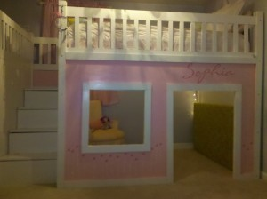 ana white | playhouse loft bed with storage stairs - diy projects