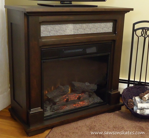 electric fireplace mantle tutorial