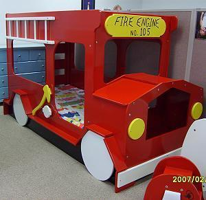 Ana white crib size mattress toddler bunk beds diy projects - Fire engine bed plans ...