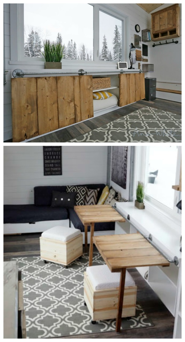 Open Concept Rustic Modern Tiny House Photo Tour and Sources