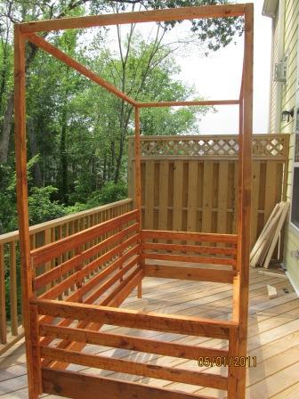 Ana White Outdoor Pine Canopy Daybed Diy Projects