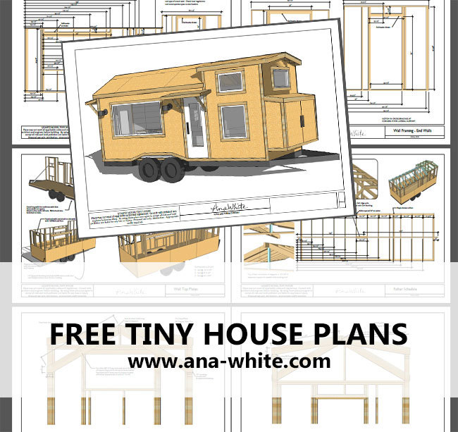Ana white quartz tiny house free tiny house plans for Tiny house trailer floor plans