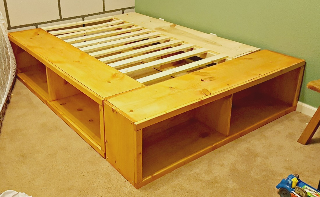 diy bed frame white storage captains bed diy projects 10571