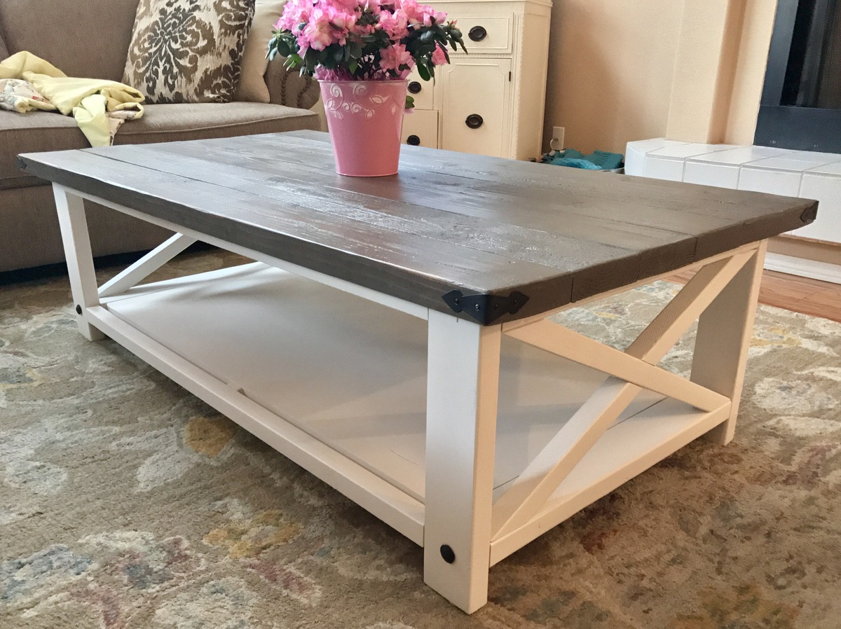 Ana white larger rustic x coffee table diy projects for Table in table