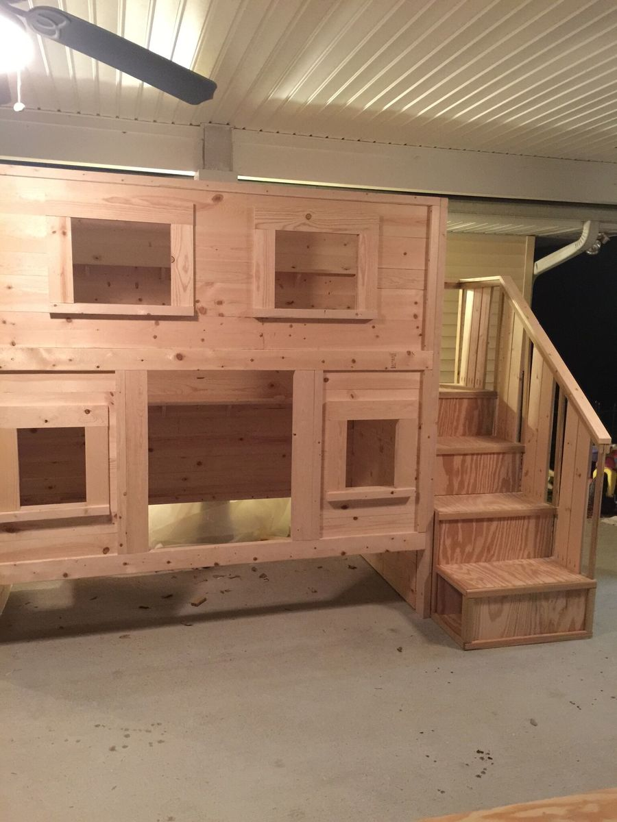Ana White | Cabin Bunk Bed for Dima - DIY Projects
