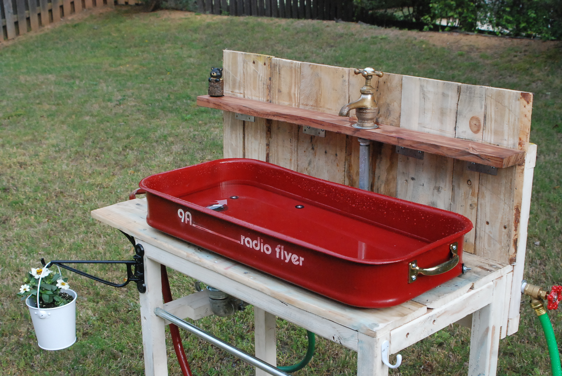 Galvanized Sinks Potting Benches Organized clutter a new potting
