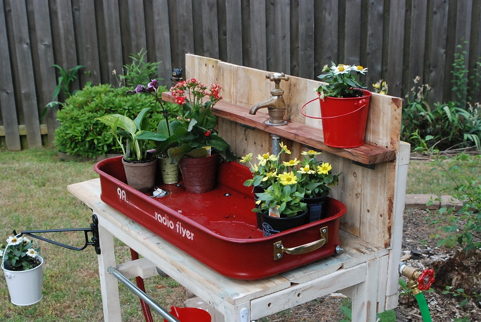 Ana White Radio Flyer Garden Sink Diy Projects