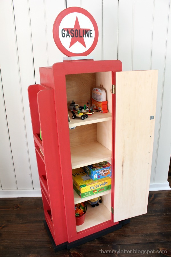 Ana White How To Build A Vintage Gas Pump Cabinet With Side Bookshelves Diy Projects