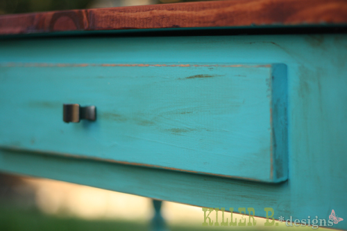 Genial Distressed Turquoise With Chocolate Glaze