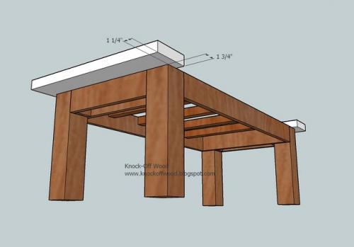 Ana white tryde coffee table diy projects for Coffee table instructions