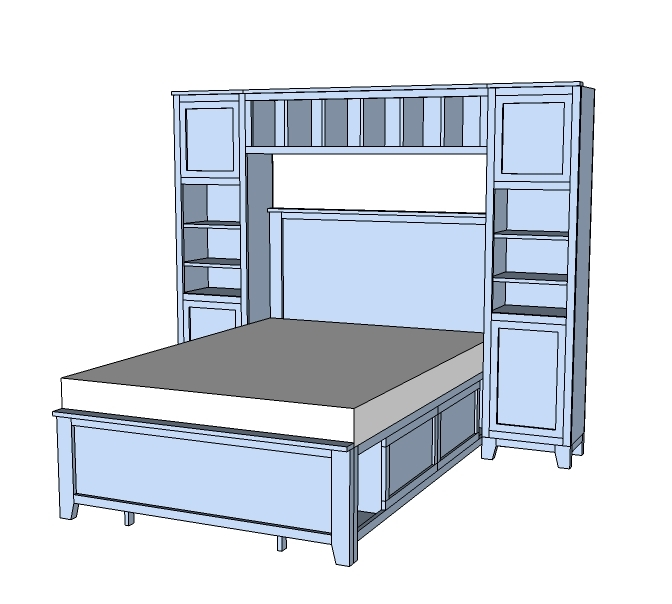 and a support system for a bed hutch add tons of storage to your child or teens room without taking up more space than nightstands