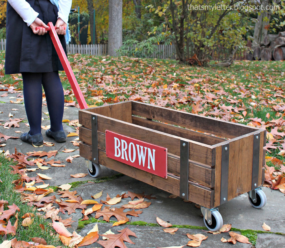 Ana White Beautiful Wood Wagon For Children Industrial Style