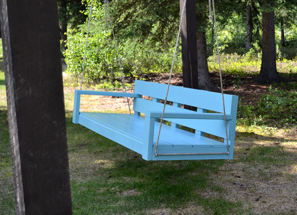 Woodworking build your own front porch swing plans pdf for Easy porch swing