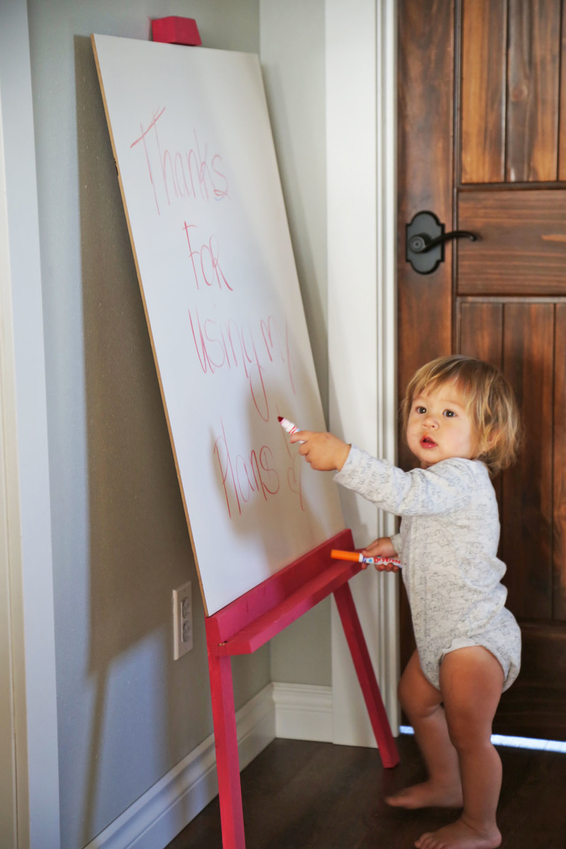 Ana White Easy Leaning Kids Art Easel Diy Projects