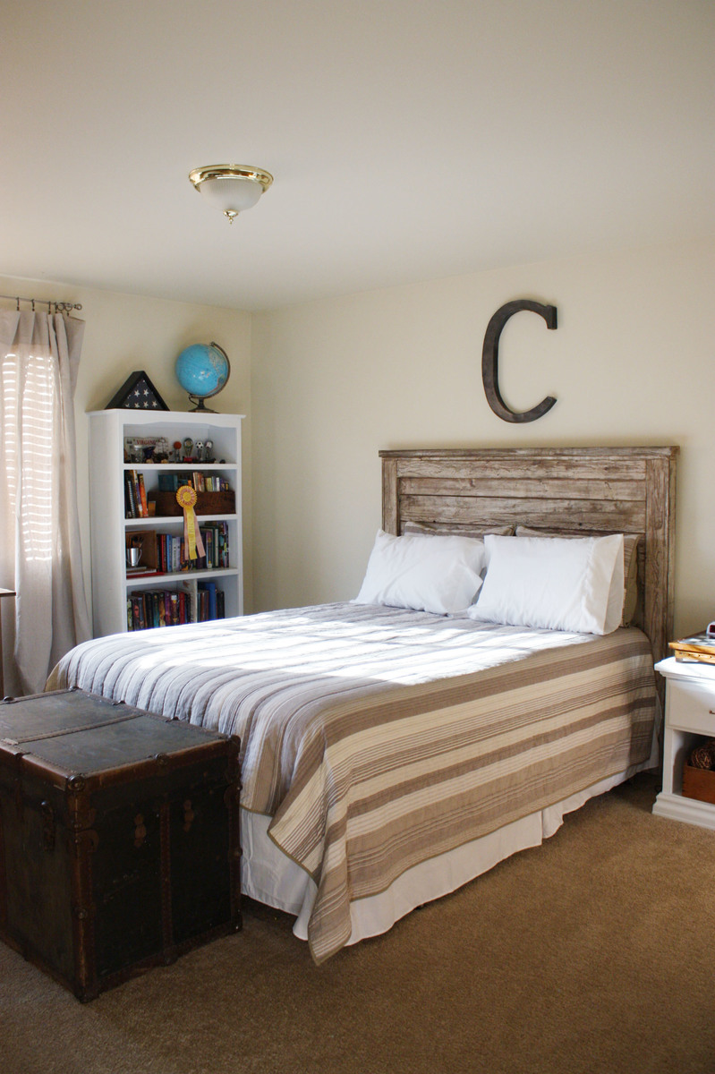 Rustic Headboard Diy Interesting Ana White  Rustic Headboard  Diy Projects Review