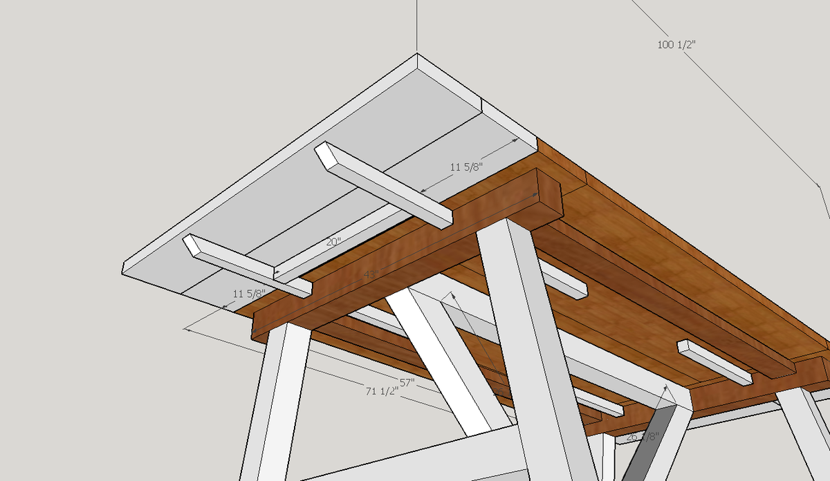 Ana White 4x4 Truss Table Diy Projects