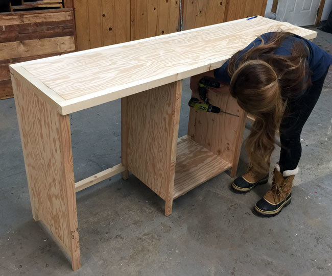 The Cabinet Is Just Plywood Construction With 2x2 Legs And Framing Everywhere Except For Front Where 1x2s Were Used Stool Double On