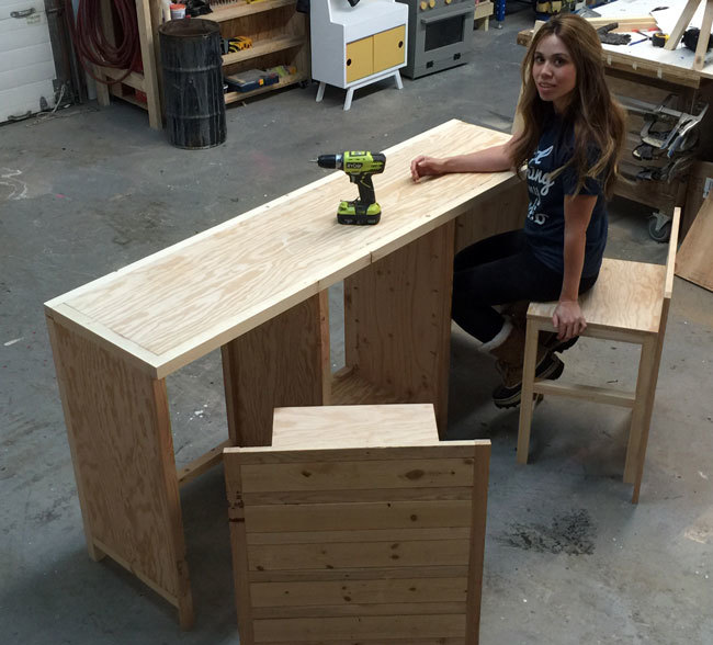 Ana white hidden desk apothecary cabinet diy projects for Diy hidden table