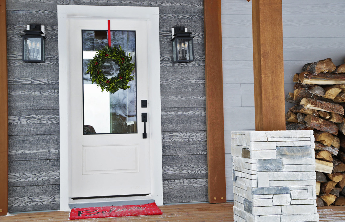Our Simple Safe Amp Smart Holiday Front Door Ana White