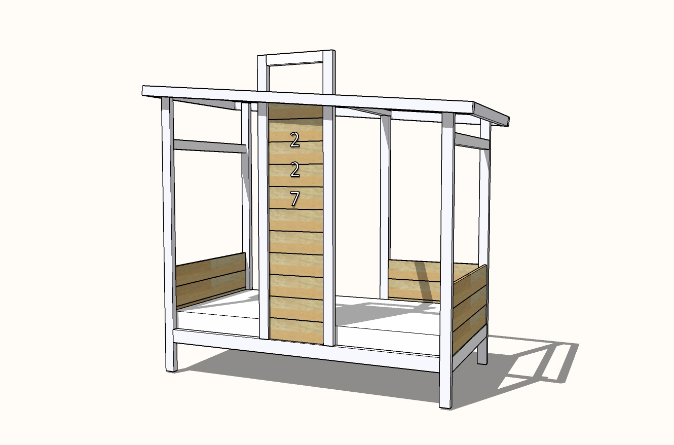 house shaped bed frame plans
