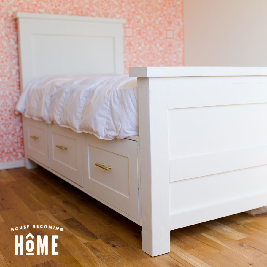 Ana White Twin Bed With Drawers Diy Projects