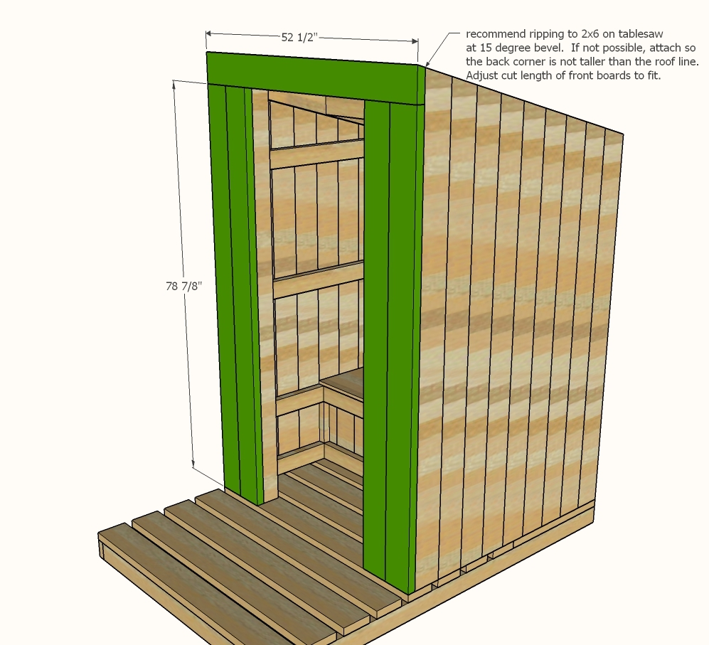 Ana white outhouse plan for cabin diy projects Build a house online free