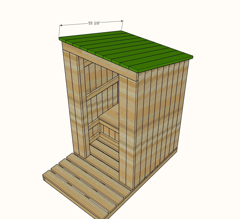 ^ na White Outhouse Plan for abin - DIY Projects
