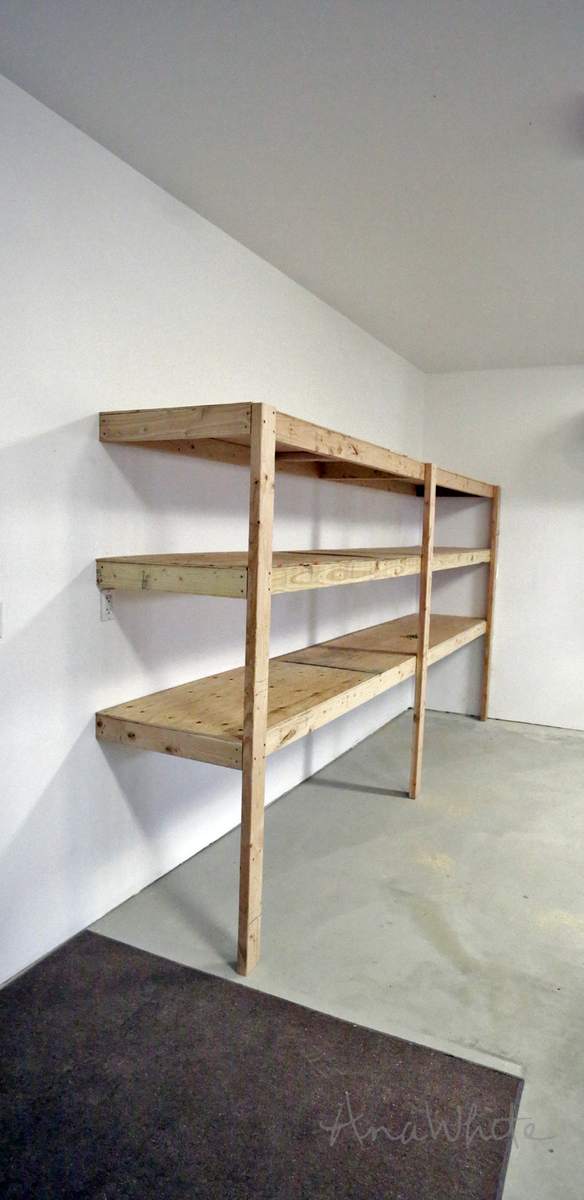 This Is The Fastest And Easiest Way To Build Garage Shelving! Detailed  Tutorial By Ana White.com