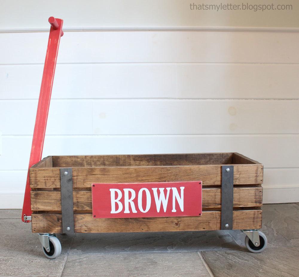 Beautiful Wood Wagon for Children