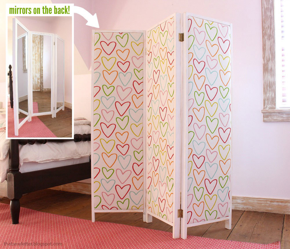 Wooden Screen Bedroom ~ Ana white how to build a mirrored changing screen with