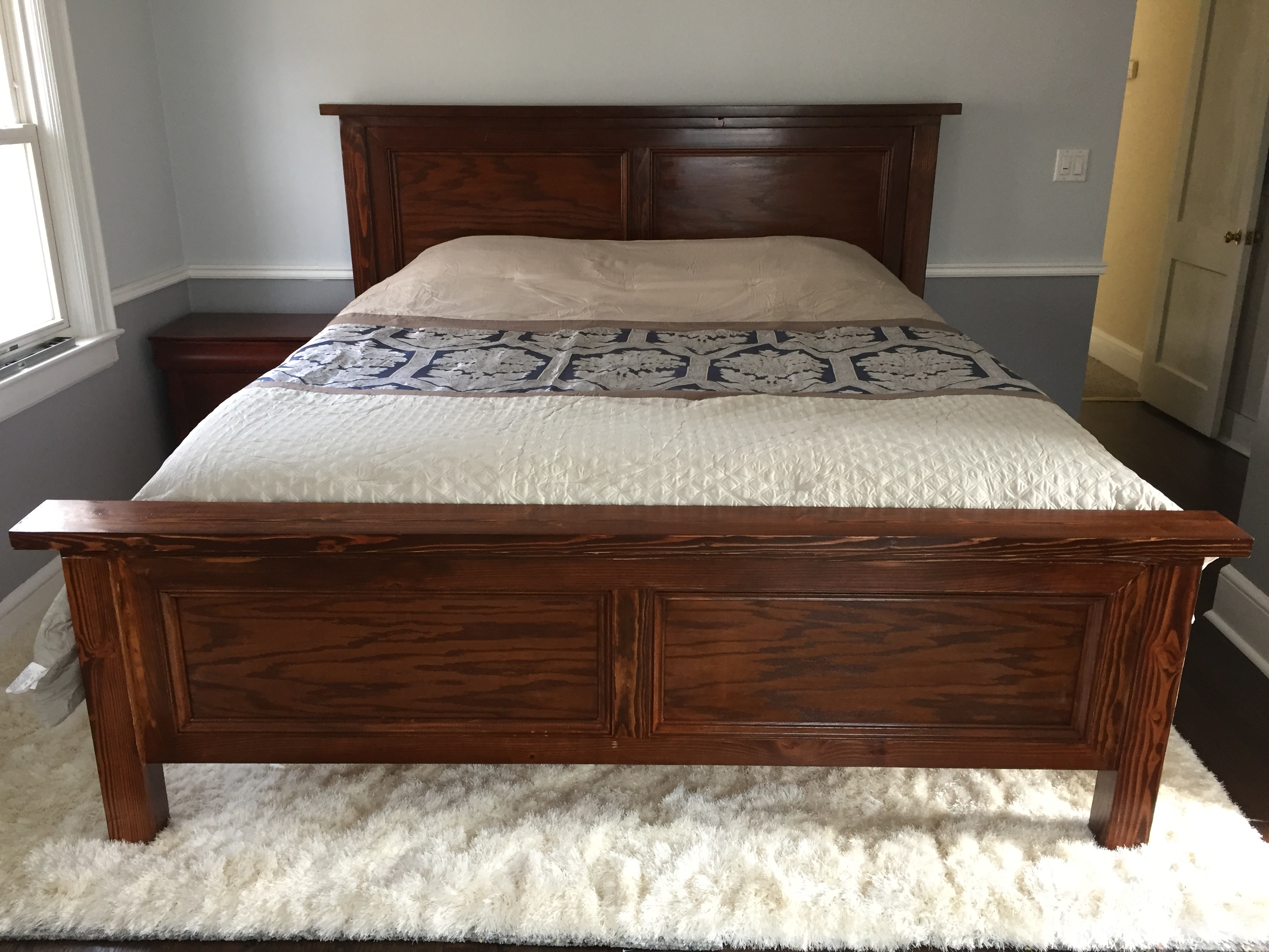 Ana White Modified King Farmhouse Bed Diy Projects