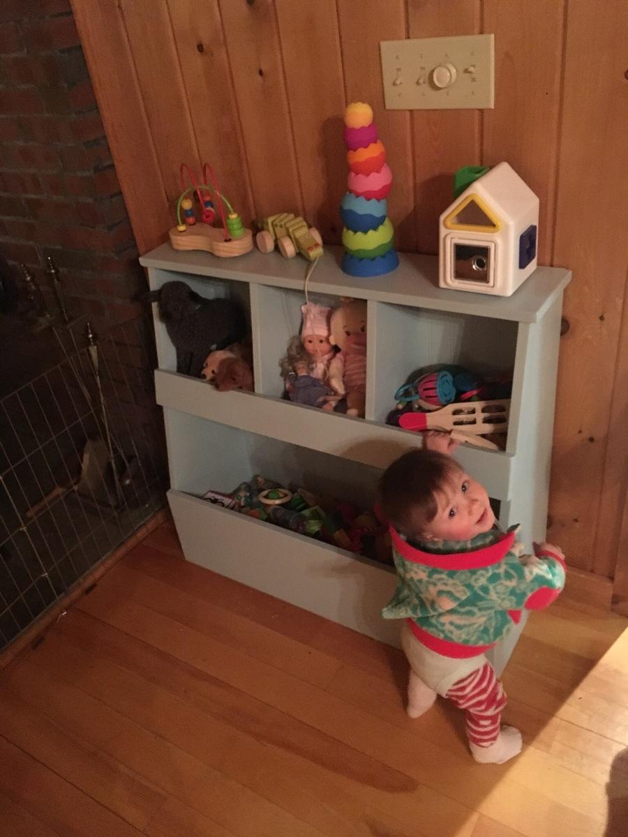 Toy Storage Bin Box With Cubby Ana White