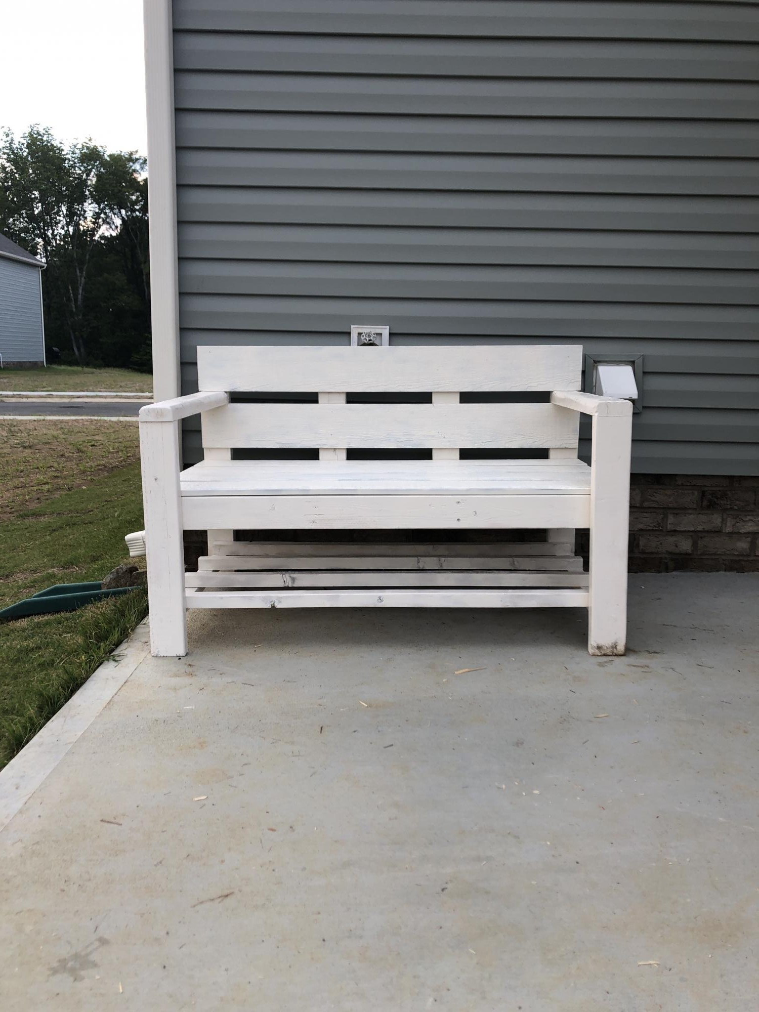 Strange Modified Modern Park Bench Ana White Onthecornerstone Fun Painted Chair Ideas Images Onthecornerstoneorg